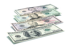 All stack type of american dollars Stock Photography