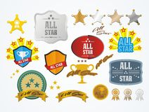 All star decoration kit Royalty Free Stock Photos