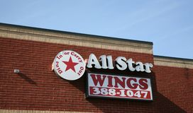 All Star Hot Wings. Sells various flavors of spicy, hot and mild chicken wings Memphis TN Stock Photography