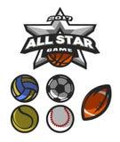 All-Star- Spiel, Logo, Emblem Stockfoto