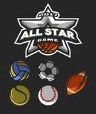 All-Star- Spiellogo, Emblem Stockfotos