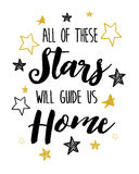 All of these stars will guide us home Royalty Free Stock Photos