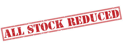 All stock reduced red stamp Stock Image
