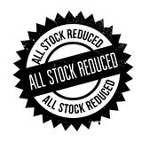 All Stock Reduced rubber stamp Stock Image