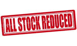 All stock reduced. Stamp with text all stock reduced inside, ilustration stock illustration