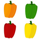 All sweet pepper colors Stock Images