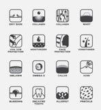 All symbolsvektor/mänsklig huduppsättning stock illustrationer