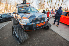 All-terrain cross-country vehicle on tracks, ford Royalty Free Stock Photo