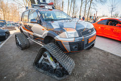 All-terrain cross-country vehicle on tracks Stock Photography