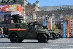 All-terrain infantry mobility vehicle GAZ Tigr with anti-tank guided missile system Kornet. Stock Photos
