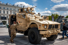 All terrain Oshkosh M-ATV vehicle Stock Image
