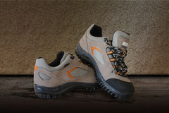 All terrain pair shoes Royalty Free Stock Photos