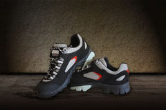 All terrain pair shoes Royalty Free Stock Images