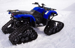 All Terrain Utility Snowmobile Vehicle Stock Images