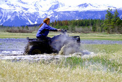 All Terrain Vehicle/ATV Race stock image