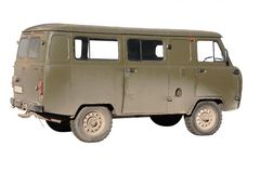 All-terrain vehicle bus Royalty Free Stock Images