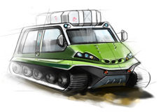 All-terrain vehicle. The design of modern all-terrain vehicle. Illustration Vector Illustration