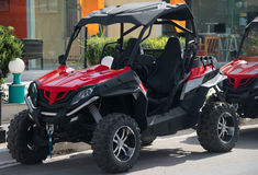 All-terrain vehicle rent. Stock Images