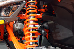 All terrain vehicle shock absorber. Close up Stock Photography