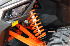 All terrain vehicle shock absorber Stock Image