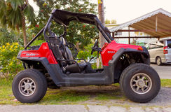 An all terrain vehicle in the tropics Royalty Free Stock Image