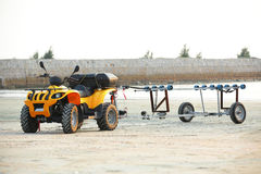 All terrain vehicle. S on beach Stock Photo