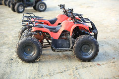 All terrain vehicle. S on beach Stock Images