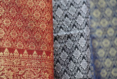 All Thai Silk made from handmade Stock Image