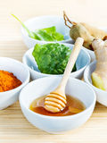 All of thai skin care ingredients. Royalty Free Stock Image