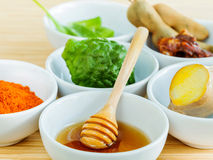 All of thai skin care ingredients. Royalty Free Stock Images