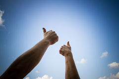 All thumbs up Royalty Free Stock Images