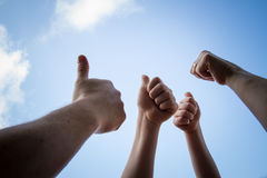 All thumbs up Stock Image
