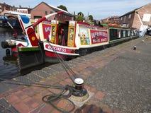 Narrowboat mooring Stock Photos