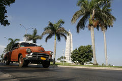 All time classic. Car in the revolution square at  havana Royalty Free Stock Photos