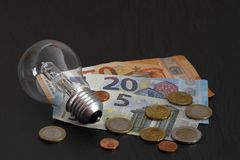 The Rising energy costs. The all times Rising energy costs royalty free stock images