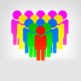 All together. All people on the land, regardless of races, nationalities, faiths and social status must be together and live without wars Royalty Free Stock Images