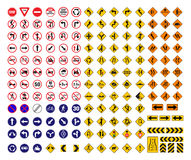 All traffic signs. Set  icon Stock Photos