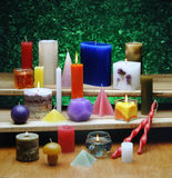 All types of candles Royalty Free Stock Photos