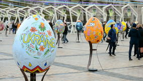 Easter Eggs Festival 2017 Pysanky in Kiev, Ukraine, stock video footage