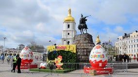 All-Ukrainian Easter Eggs Festival 2017 Pysanky in Kiev, Ukraine, stock video