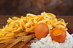 All'uovo de pâtes Images libres de droits