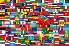 All vector flags of all countries in one Royalty Free Stock Image