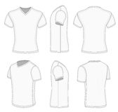 All views men's white short sleeve v-neck t-shirt. Royalty Free Stock Image