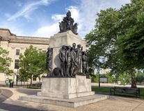 All Wars Memorial to Colored Soldiers and Sailors, Logan Park, Philadelphia Pennsylvania Stock Image