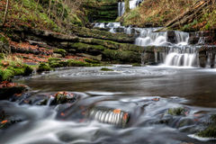 All the way to Scaleber Force. The stunning Scaleber Force falls near Settle in the Yorkshire Dales National Park in all of their autumnal splendor Royalty Free Stock Photography