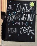 The Right Clothes Chalkboard Art Royalty Free Stock Photos