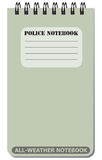 All-weather notebook used by police Royalty Free Stock Image