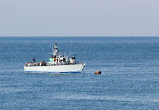 All-weather patrol boat patrol sea space of the country Royalty Free Stock Photography