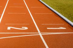 All weather running track. Royalty Free Stock Photo