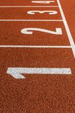 All-weather running track. Stock Image
